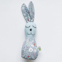 Blümchen-Bunny-Rassel mint/grau