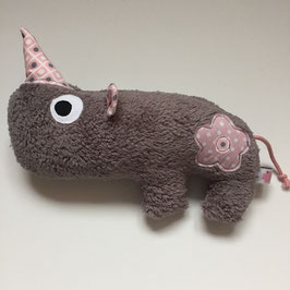 Nashorn-Rassel grau Emily rosa/grau