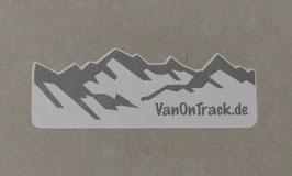 Aufkleber VanOnTrack Berge, Sticker, ca. 7cm breit