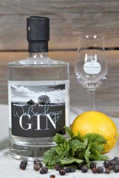 Weißensberger Gin  aus eigener Herstellung