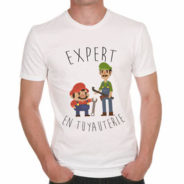 """T-Shirt """"Expert en tuyauterie"""""""