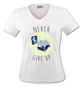 "T-Shirt ""Never Give up"" jeune licorne."