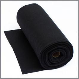 Bündchen Uni schwarz
