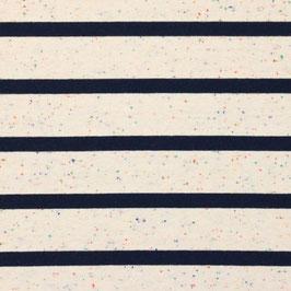 Jersey Multicolor Streifen Groß Off Weiß-Blau