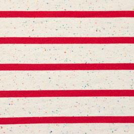 Jersey Multicolor Streifen Groß Off Weiß-Rot