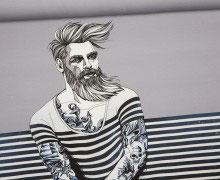 Panel Nordic Hipster graublau 1