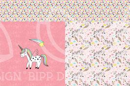 Panel Jersey Una Einhorn (Pink)