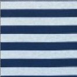 Jersey Große Streifen Meliert Dunkel Blau