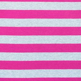 Jersey Große Streifen Meliert Pink