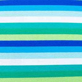 Jersey Streifen Multicolor Lime-Kobalt