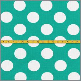 Jersey Punkte Maxi 25mm dunkelmint
