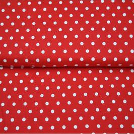 Jersey Punkte weiß auf rot 1