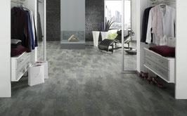 Vinylboden Schiefer grigio gefast (612x440x10,8)