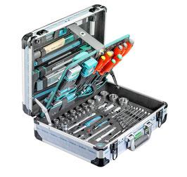 Werkzeugkoffer Alu technocraft mit 160-tlg. Werkzeugsatz