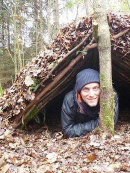 Schutzunterkunft in der Wildnis