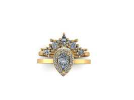 Baroque Radiance Set in Diamonds and Yellow Gold