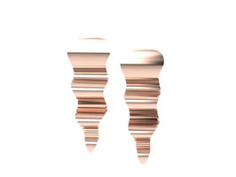 Ripple Earrings 18ct Fairtrade Rose Gold