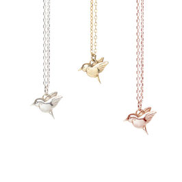 "Little Hummingbird Necklace 18"" chain"