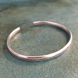 Gents personalised silver cuff bangle