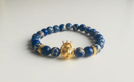Gold blue Lion