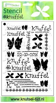 Stencil Knuffels (10,4 x 14,7 cm)