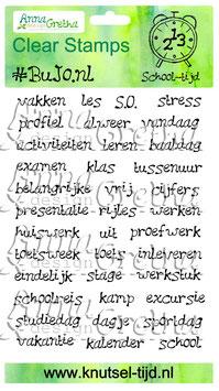 #BuJo.nl Stempelset School-tijd (11 x 14,9 cm)