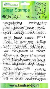#BuJo.nl Stempelset Planning & Tijd (11 x14,9 cm)