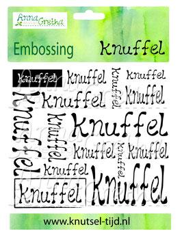Embossing folder Knuffel (13,5 x 12,2 cm)