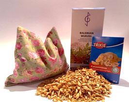 Schmusekissen / Raschelkissen für Katzen mit Baldrianwurzel und Dinkelspelz