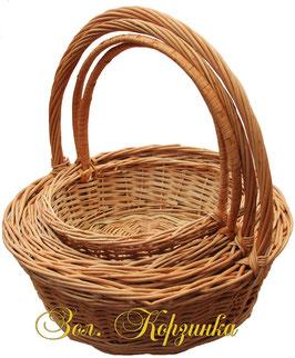 Корзина круглая для свадеб  комплект 4 шт ( Украина )