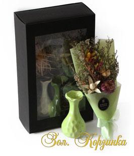 Сухоцвет (компл-ваза,букет)