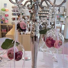 Glasball - z.B. zur Dekoration f. Kerzenständer - Leihartikel