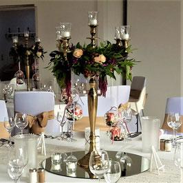 Kerzenständer BIG GOLD, H 78 cm - Leihartikel