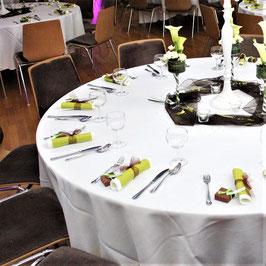 Tischdecke, rund, weiß, 2 versch. Größen
