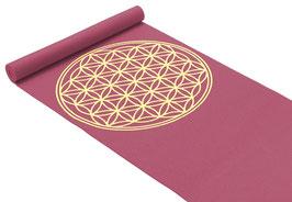 Yogamatte - Blume des Lebens bordeaux