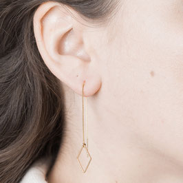 THREAD Earring Rhombus Diamond