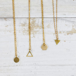 NECKLACE short mini geometric Shapes