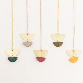 WOODEN Necklace Semi Circles