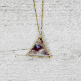 NECKLACE long Coloured Triangle