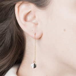 THREAD Earring Hexagon Marble