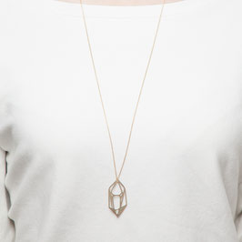 NECKLACE long geometric lasered Diamond