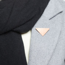 BROOCH Copper Triangle asymmetrical