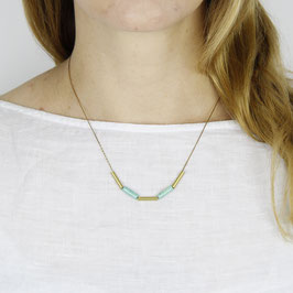 GEMSTONE Necklace short Tubes