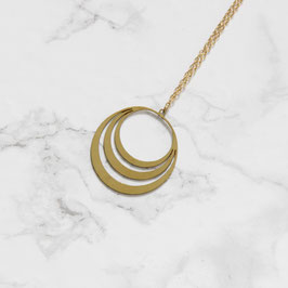 NECKLACE long layered Circle lasered