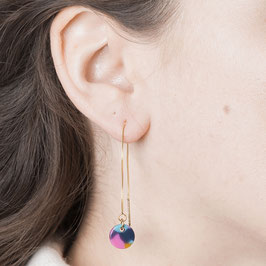 THREAD Earring colorful Circle