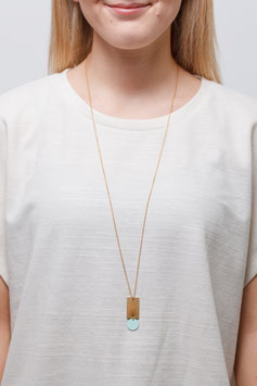 NECKLACE long matte Circle & Rectangle