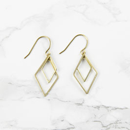 EARRINGS Double Rhombus Diamond