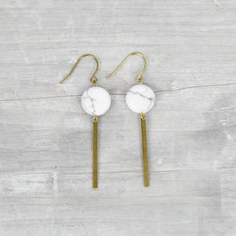 GEMSTONE Earring Marble