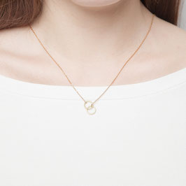 NECKLACE short Double Circle