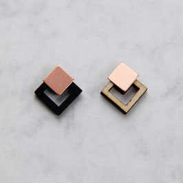 WOODEN Studs Squares & Copper